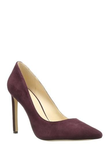 Nine West Süet Stiletto Ayakkabı Bordo
